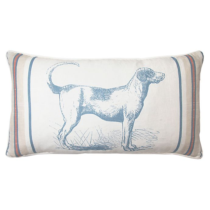 Alternate image 1 for Bee & Willow™ Home Hound Oblong Throw Pillow in Navy