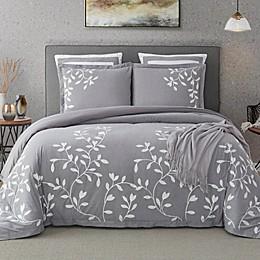 Autumn 100% Cotton 3 Piece Bedding Set in Grey