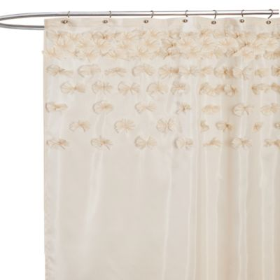 Lucia Ivory Fabric Shower Curtain