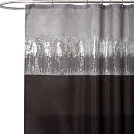 Night Sky Black And Grey 72 Inch X 72 Inch Shower Curtain