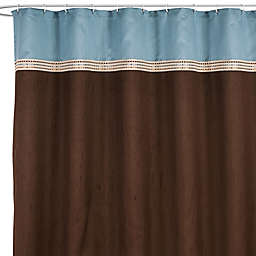 Terra Blue 72-Inch x 72-Inch Fabric Shower Curtain