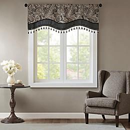Madison Park Aubrey Jacquard Scalloped Window Valance