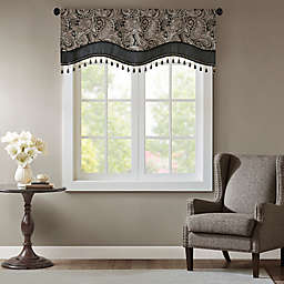 Madison Park Aubrey Jacquard Scalloped Window Valance