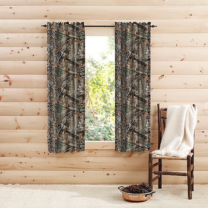 Alternate image 1 for Realtree® Edge™ Camo 63-Inch Rod Pocket Window Curtain Panel Pair in Green