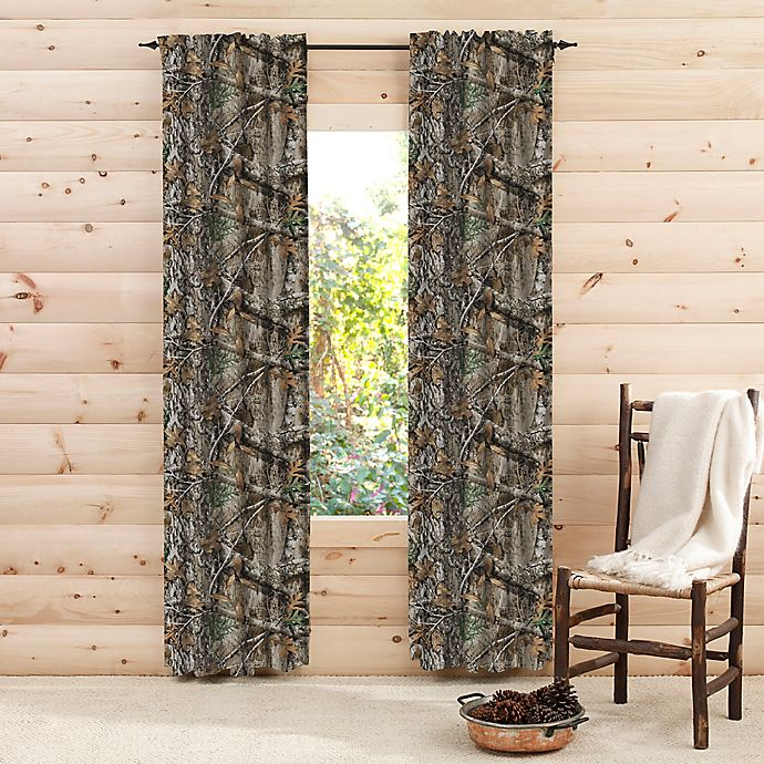 Alternate image 1 for Realtree® Edge™ Camo 2-Pack Rod Pocket Window Curtain