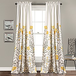 Aprile Rod Pocket Room Darkening Window Curtain Panel Pair