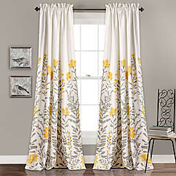 Aprile 2-Pack 84-Inch Rod Pocket Room Darkening Window Curtain in Yellow