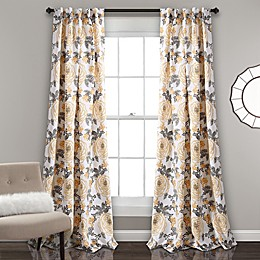 Aromo Garden Rod Pocket Room Darkening Window Curtain Panel Pair