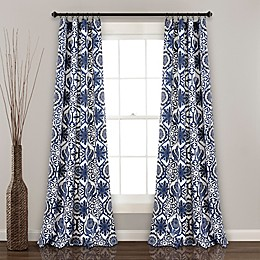Marvel 84-Inch Rod Pocket Room Darkening Window Curtain Panel Pair in Navy