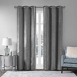 Madison Park Luxe Chenille Grommet Window Curtain Panel Pair