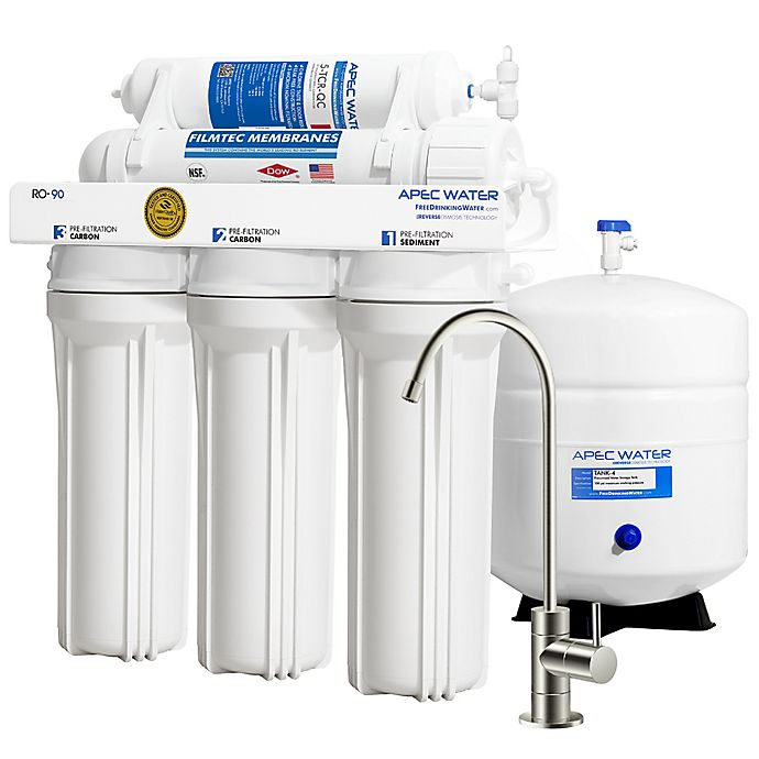 Alternate image 1 for Apec Water WQA-Certified 90 GPD RO Water Filtration System