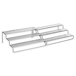 iDesign® Classico Expandable 3-Tier Spice Rack in Silver