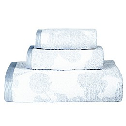 DKNY City Bloom Bath Towel Collection in Blue