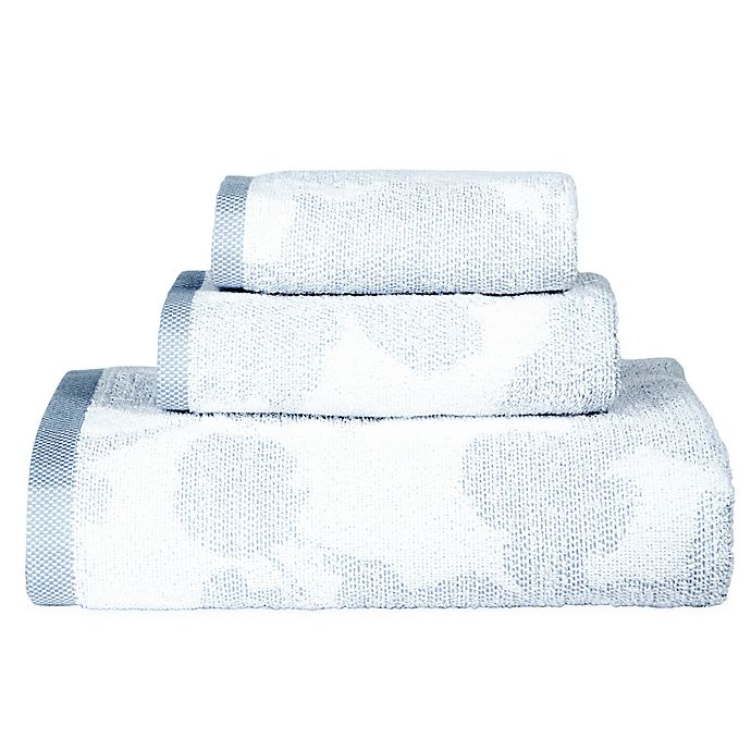 Alternate image 1 for DKNY City Bloom Bath Towel Collection in Blue