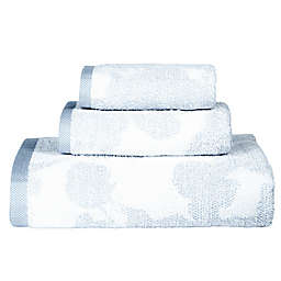 DKNY City Bloom Fingertip Towel in Blue