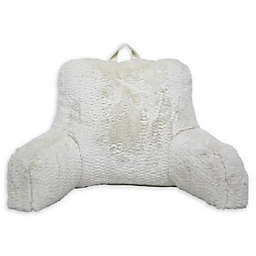 Textured Dean Backrest Pillow in Ivory