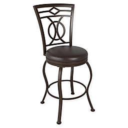 Corliving™ Leather Swivel Jericho Bar Stool