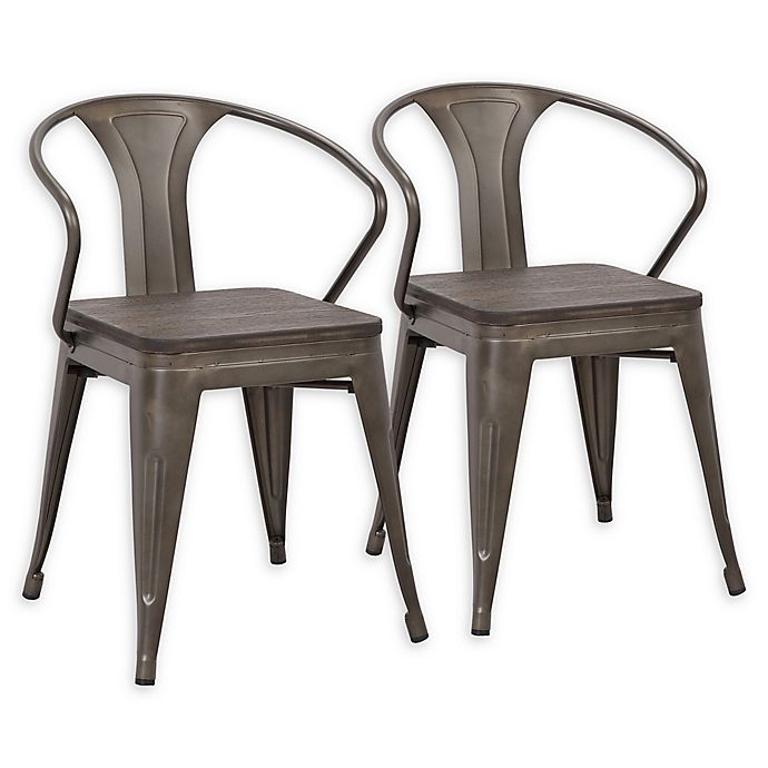 Alternate image 1 for Lumisource® Waco Dining Chairs in Antique/espresso (Set of 2)