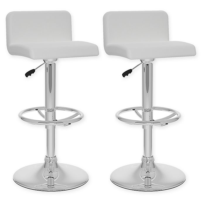 Awesome Corliving Faux Leather Swivel 33 Bar Stools Set Of 2 Gmtry Best Dining Table And Chair Ideas Images Gmtryco