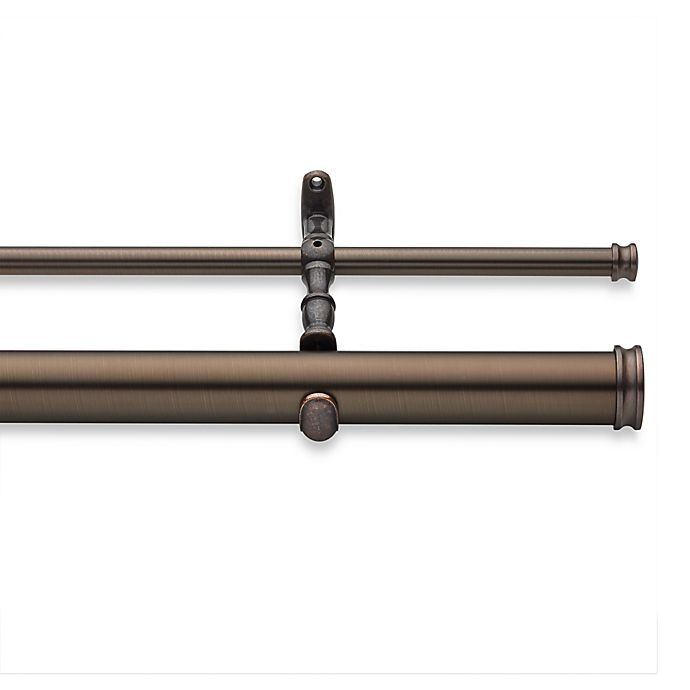 Alternate image 1 for Cambria® Elite Complete 36-Inch to 70-Inch Double Drapery Rod in Oil Rubbed Bronze
