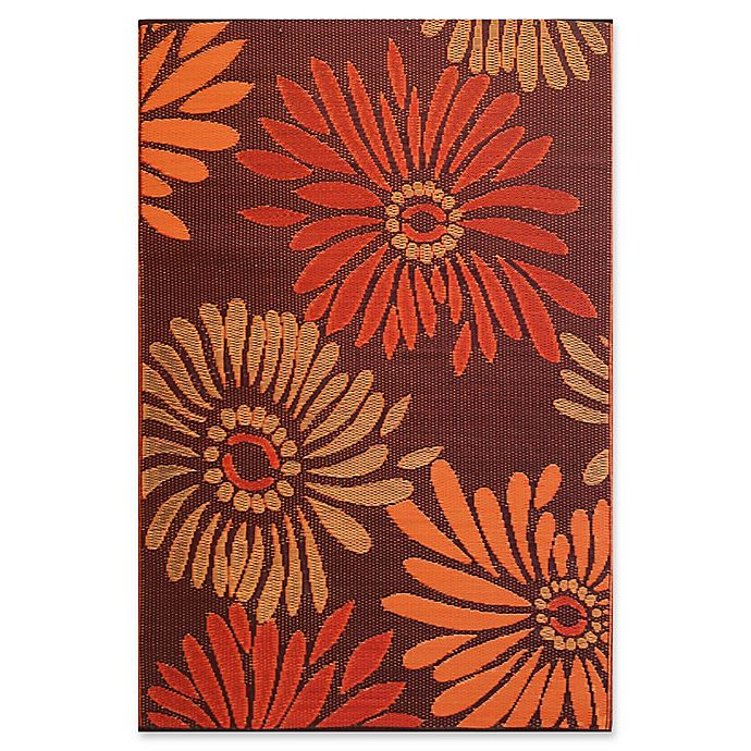 Alternate image 1 for Mad Mats® Daisy Flat-Weave Indoor/Outdoor Area Rug