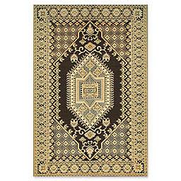 Mad Mats® Oriental Turkish 4' x 6' Flatweave Indoor/Outdoor Area Rug in Brown