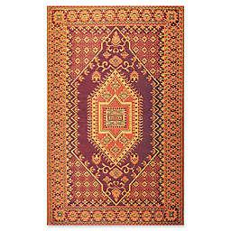 Mad Mats® Oriental Turkish 5' x 8' Flatweave Indoor/Outdoor Area Rug in Rust