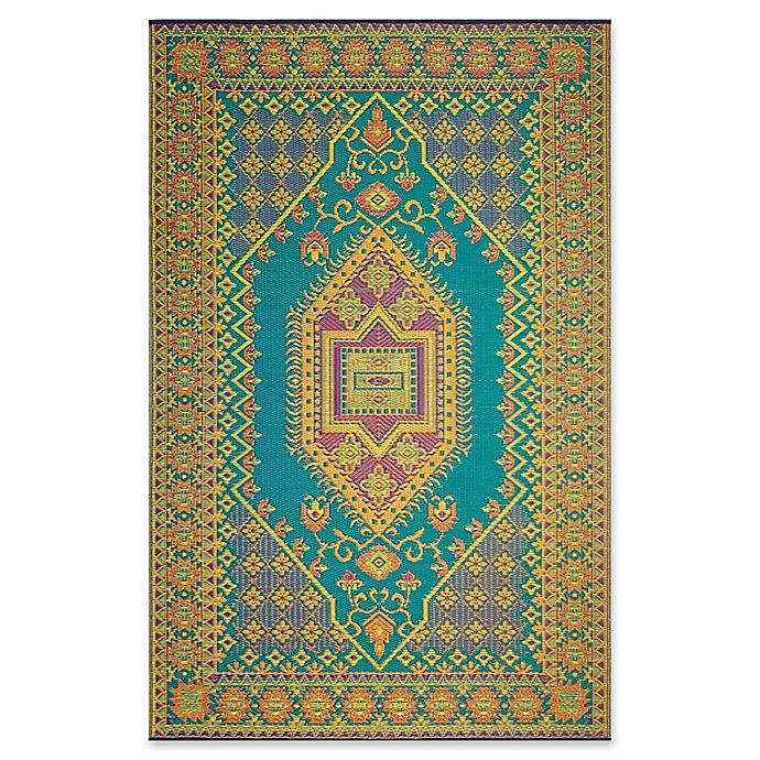 Alternate image 1 for Mad Mats®® Oriental Turkish 6' X 9' Flat-weave Area Rug in Aqua