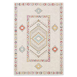 Jaipur Living Medallion Indoor/Outdoor Rug in Ivory
