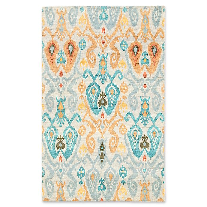 Alternate image 1 for Jaipur Living Elle Knotted Ikat 8'10 x 12' Handcrafted Area Rug in Blue