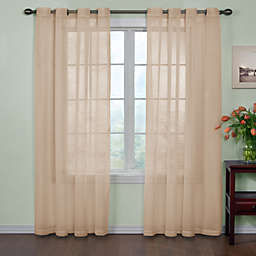 Arm and Hammer™ Curtain Fresh™ 84-Inch Sheer Curtain Panel in Latte (Single)