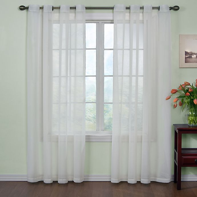 Alternate image 1 for Arm and Hammer™ Curtain Fresh™ Odor Neutralizing Sheer Curtain Panels