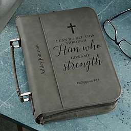 Heavenly Quotes Personalized Bible Cover