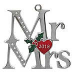 Crystals from Swarovski® Harvey Lewis™ Mr. & Mrs. 2018 Ornament
