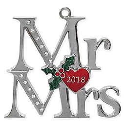 Crystals from Swarovski® Harvey Lewis™ Mr. & Mrs. 2018 Ornament
