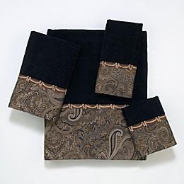 Avanti Bradford Bath Towel Collection in Black