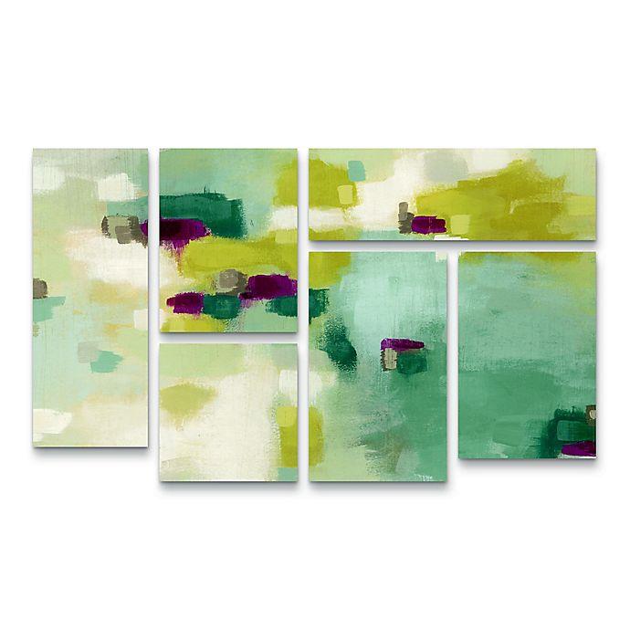 Alternate image 1 for Trademark Fine Art June Erica Vess Harbor Lights II Wrapped Canvas Wall Art