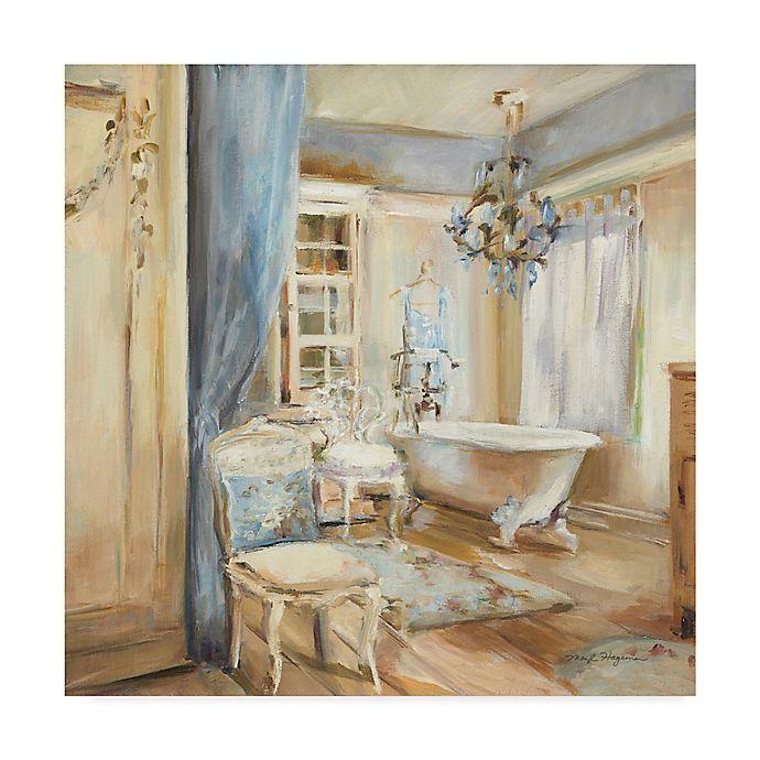 Alternate image 1 for Trademark Fine Art Boudoir Bath I 24-Inch Square Canvas Wall Art