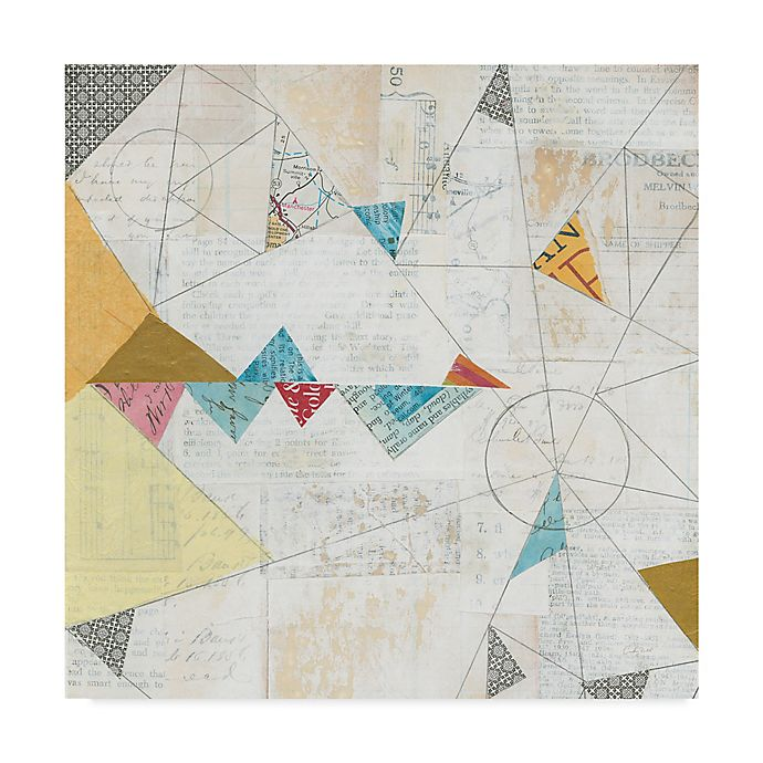 Alternate image 1 for Trademark Fine Art Map Collage Crop 24-Inch Square Canvas Wall Art