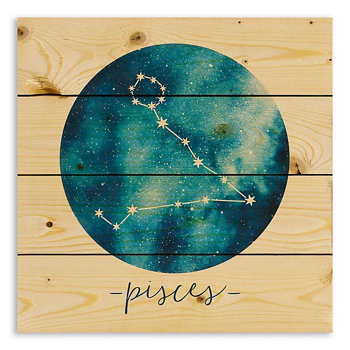 Designs Direct Pisces Zodiac Sign Pallet Wood Wall Art Bed Bath