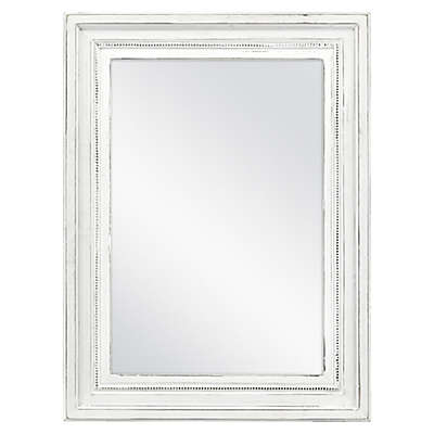 Bee & Willow™ Home 18-Inch x 24-Inch Beveled Wall Mirror in White
