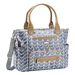 JJ Cole® Chevron Bucket Diaper Tote in Grey