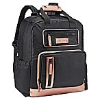 JJ Cole® Papago Pack Diaper Bag in Black/Rose Gold