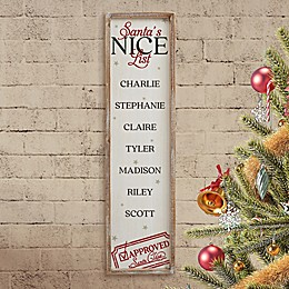 Santa's List Personalized 30-Inch x 8-Inch Barnwood Sign
