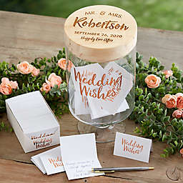 Mr. and Mrs. Personalized Wedding Wishes Jar