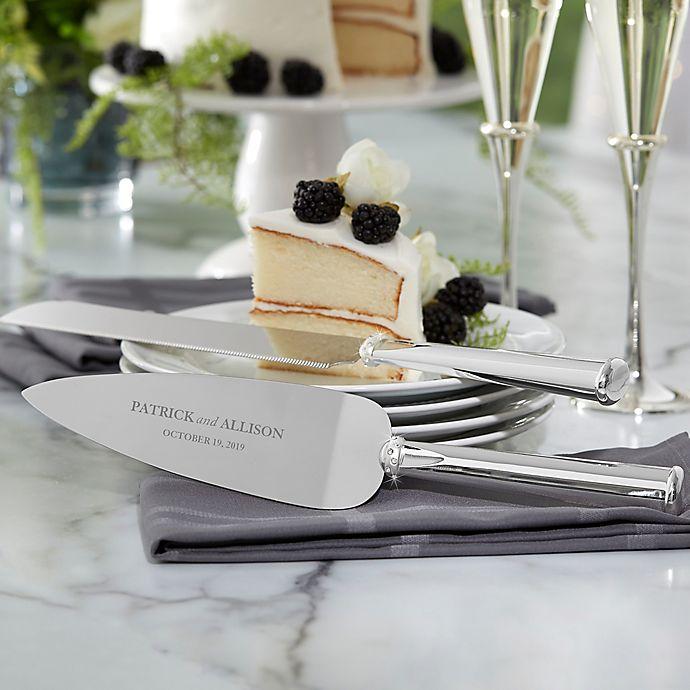 Alternate image 1 for Lenox® Devotion Personalized 2-Piece Cake Knife & Server Set