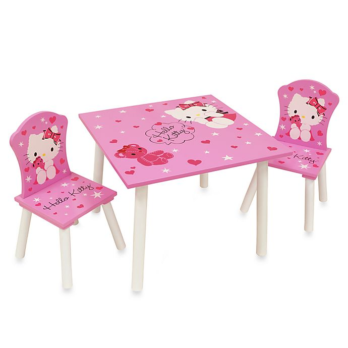 Hello Kitty® Table and Chairs Set   Bed Bath & Beyond