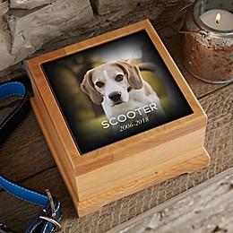 Photo Memorial Pet Urn in Wood