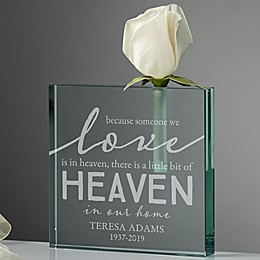 Heaven In Our Home Personalized Bud Vase