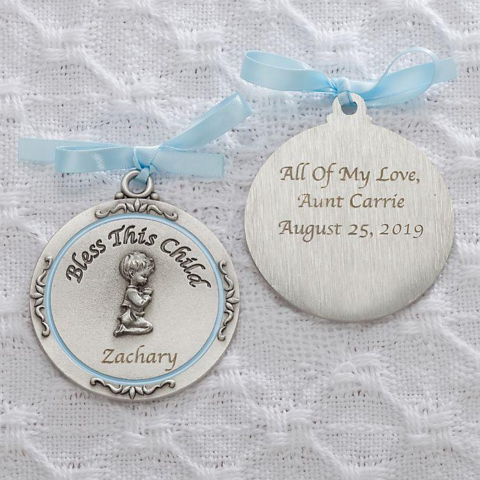 Alternate image 1 for Baptism Blessings Boy Crib Medallion